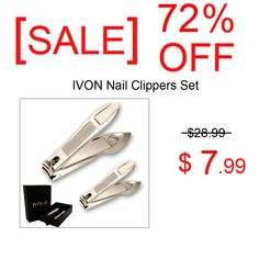 [ SALE ] OFF - Nail Clippers with Catcher Set Fingernail Toenail Stainless Steel Sharp Cutter for Men and Women Amazon Online Shopping, Discount Online Shopping, Shopping Deals, Pedicure Tools, Manicure And Pedicure, Business Gifts, Anniversary Sale, Estee Lauder, Nail Clippers