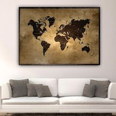 3c14f89f1b2 29 Top Πίνακες με χάρτες - World map canvas images | Map canvas ...