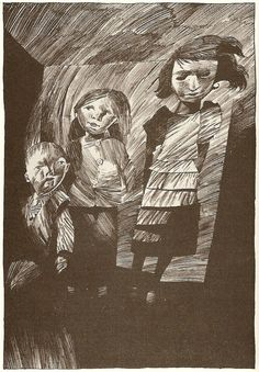by Dave McKean (the ghost children in the closet - Coraline)