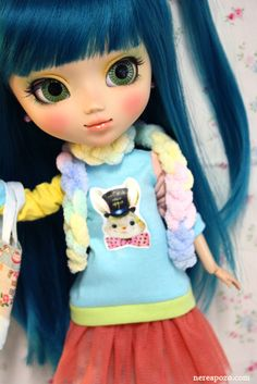 Mimzy Teal custom Pullip doll