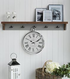 Polished Silver Wall Clock - New England Furniture and accessories