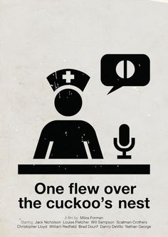 One Flew Over The Cuckoo's Nest | Pictogram Movie Posters