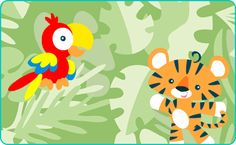 Rain Forest Surprise Game to play! Baby can use the keyboard....