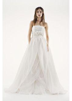 White by Vera Wang Textured Organza Wedding Dress VW351178