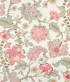 Kaufmann Clarice/Cir English Cream Fabric via OnlineFabricStore Textile Pattern Design, Pattern Art, Rose Wallpaper, Fabric Wallpaper, Gold Fabric, Floral Fabric, Drapery Fabric, Linen Fabric, Curtains
