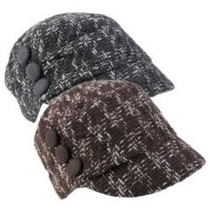 @Overstock - Three button accents highlight the side of this newsboy cap by Journee Collection. This tweed cap is constructed of wool blend material and completed with a short brim and elastic back for easy styling.http://www.overstock.com/Clothing-Shoes/Journee-Collection-Womens-Tweed-Button-Accent-Newsboy-Cap/6378651/product.html?CID=214117 $13.19