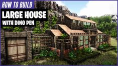 This video is a detailed tutorial for a large house it has 3 floors with good size rooms, a balcony and an outside Pen for your dinos. Wooden Pillars, Stone Pillars, Ark Survival Evolved Tips, Wooden Ramp, Video Game Rooms, Video Games, Wooden Window Frames, Media Room Design, Rest House