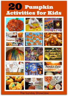 20 Pumpkin Activities for Kids via JDaniel4's Mom