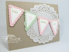 Pennant Parade Baby Girl by Patimac1980 - Cards and Paper Crafts at Splitcoaststampers