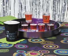 New Year's Shot Glasses provide everyone at the party with a shot of holiday cheer. Toast to a happy new year!