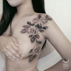 More beautiful placemeny via @zihwa_tattooer zihwa reindeerink floral feminine