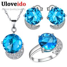 Find More Jewelry Sets Information about Women Jewelry Sets 925 Sterling Silver Round Blue/Purple/Red Crystal Simulated Diamond Jewelry Gift Set bijuterias Ulove T216,High Quality rubi tools,China ruby specialized Suppliers, Cheap rubi dress from ULOVE Fashion Jewelry on Aliexpress.com