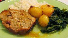 As receitas da Lau: Pá de porco com tangerina
