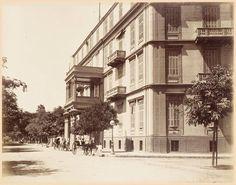 فندق الكونتيننتال في الازبكية في القرن ال ١٩ تصوير لكيجيان