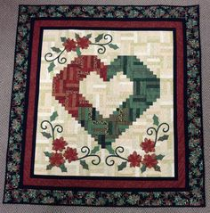 My Love of Christmas great log cabin quilt  Don't for get to vote on your favorite quilt