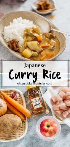Japanese curry rice is an ever-popular and delicious Japanese take away food. This Japanese curry rice recipe is versatile. It can be made with different types of protein sources such as Beef, Chicken, Pork and Seafood. Also, any vegetables can be used. Japanese typically use curry roux to make curry. Learn how to make easy Japanese curry rice with my step by step recipe and video. #Japanesecurry #Curry #curryrice #Japanesetakeaway #Japanesecurryrecipe #Japanese #chicken #beef #Japaneserecipe Curry Recipes, Pork Recipes, Asian Recipes, Chicken Recipes, Vegetarian Recipes, Cooking Recipes, Japanese Recipes, Japanese Chicken Curry, Japanese Curry