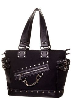 Black Handcuff Bag by Banned