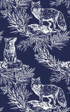 Lake August - Wall Coverings Fox in the Snow