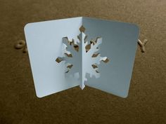 For kids only ? Pop Up Snowflake Card Tutorial - Origamic Architecture