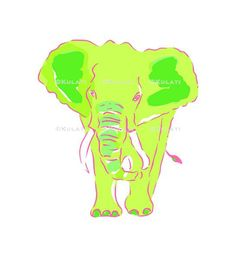 INSTANT DOWNLOAD (no physical items sent) - preppy pink elephant clipart - perfect for making your own cards, gift tags, invitations, scrapbooks, planner stickers etc.  1 high quality PNG file (approx. 6 long at 300 ppi). IF YOU WOULD LIKE TO USE THIS FOR COMMERCIAL USE, SEE BELOW. This item