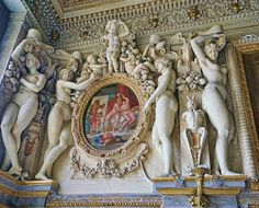 Stucco ornamentation in the Duchess of Etampes Bedchamber (now The King's Staircase) at Fontainebleau | Flickr - Photo Sharing!