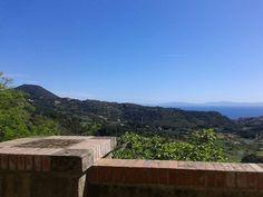 Panorama dalla terrazza esterna del Museo civico archeologico del Distretto minerario, Via Mazzini, Rio nell'Elba