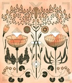 Image of Botanicals with Design #10. www.strangedirt.com. My new favorite artist to look at