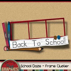 Free School Daze - Frame Cluster by MagsGraphics