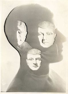 Three heads inside a head.