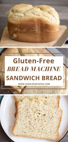 Hands down this is the best gluten free bread recipe for a bread maker. This light and fluffy homemade bread can be made in a bread machine or bake in the oven. It tastes like Wonder Bread! This gluten free and dairy free sandwich bread loaf holds up to sandwiches, etc. Easy Gluten Free Bread Machine Recipe, Gluten Free Sandwich Bread Recipe, Dairy Free Bread, Best Gluten Free Bread, Bread Maker Recipes, Easy Bread Recipes, Gluten Free Baking, Keto Recipes, Protein Foods