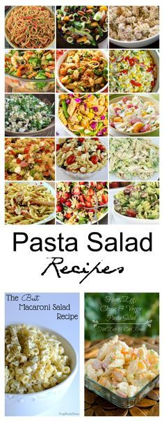 Salad Recipes| Pasta Salad Recipes are perfect for BBQ's and any summer party!
