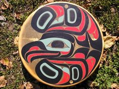Southeast Alaska Native Art | alaskan art eagle on drum original art alaskan art drum