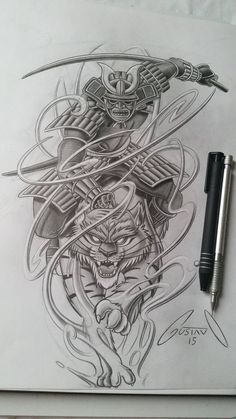 I want to tattoo a Japanese samurai to the back plan. I think I really like this photo. Japanese Tattoo Art, Japanese Tattoo Designs, Japanese Sleeve Tattoos, Japanese Warrior Tattoo, Irezumi Tattoos, Arm Tattoos, Tribal Tattoos, Trendy Tattoos, Tattoos For Guys