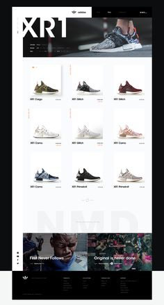 Web concept for adidas NMD