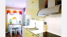 Djävulskåpan. Det nya köket går i gammal stil. Här är fläkten en riktig favorit.  | Bild: Josefin Wiklund