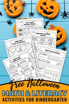These free kindergarten worksheets for kindergarten were a great addition in my classroom. The set includes kindergarten sight words, addition worksheets, counting activities, and more. The kindergarten math worksheets are so fun and include so many cute graphics, just like a game. The Halloween printables activities can be used during homeschool, or in the classroom for kindergarten and first grade students. #kindergartenclassroom #halloweenactivities 1st Grade Activities, Fun Fall Activities, Halloween Activities For Kids, Counting Activities, Kindergarten Addition Worksheets, Free Kindergarten Worksheets, Free Teaching Resources, Free Worksheets, Teaching Ideas