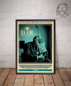 BB King  Quote Retro Poster  Music Legends Series