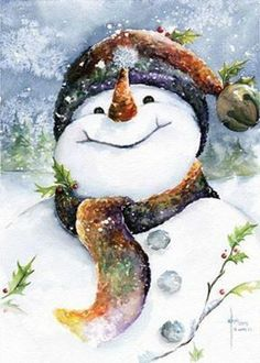 A most excellent Christmas holiday snowman~