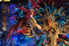 Andrea Valeria representando la estrella del oriente.  Calle Arriba de Las Tablas, año nuevo 2016.