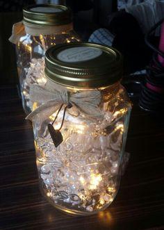 Upcycled mason jar with lights