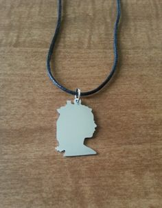 Custom Made Hand Cut Child Silhouette Necklace by RoxysCreations