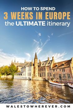 An Epic 3 Week Interrailing Route for Europe: 8 cities in 21 days ~ Are you planning a trip to Europe soon? Whether or not you plan on interrailing, this 3 week Europe itinerary will give you everything you need to know about 8 amazing places to visit in Europe! Including what to do, where to stay, how much it costs and some extra interrail tips. Check it out to find out more. #interraileurope #europetravel #Prague #Amsterdam #Bruges #Bratislava #Budapest #Luxembourg #Berlin #Vienna