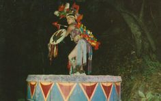 RARE Dancer on Drum Stand Rock Indian by StuckyEstateSale
