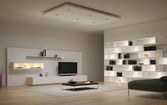 Ensemble mural tv à LED pour le salon moderne – 50 idées cool