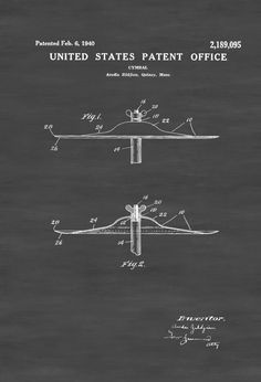Zildjian Cymbal Patent - Patent Print Wall Decor Music Poster Musical Instrument Patent Drum Patent Drummers Percussion Music Art by PatentsAsPrints