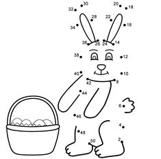 Counting In 2s, Dot To Dot Puzzles, Dotted Page, Connect The Dots, 2 In, Easter Bunny, Connection