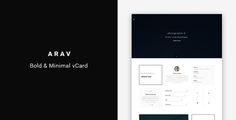 Arav - Minimal Personal vCard Template