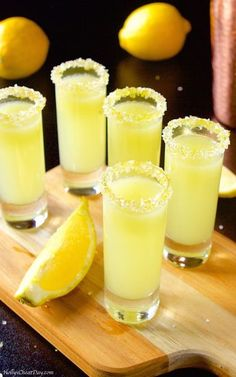 lemon-drop-shots Lemon Drop Shots Sweet and oh so tart shots full. Informations About Lemon Drop S Lemon Drop Shots, Lemon Drop Martini, Lemon Drop Drink, Lemon Jello Shots, Fruity Shots, Lemon Drop Cocktail, Liquor Drinks, Cocktail Drinks, Beverages