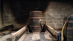 Upright whisky cask