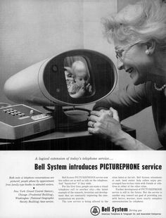 April 20, 1964: Bell System's Picturephone dials up the world's first videophone call at the New York World's Fair. Commercial service started on June 25, 1964 at calling booths in New York, Washington, D.C. & Chicago. Interest was lukewarm at best. A 3-minute video call from New York to Washington, D.C. cost $ 16 — or the equivalent of $ 120 today!